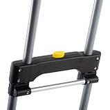 Тележка ручная складная до 60 кг, 385*375*960, колеса 130 мм, (стальная) INTERTOOL LT-9006, фото 10