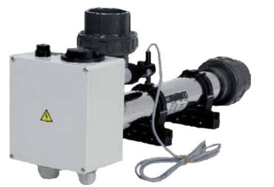 Проточний електронагрівач в корпусі з пластику, тени з титану, 3кВт, 220В, Vagner