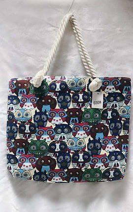 257628c9f845 Сумка пляжная тканевая Совы (ручки-канаты): продажа, цена в Одессе ...