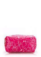 Женская косметичка розовая с принтом - коты