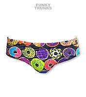 New! Хлоростойкие мужские плавки Funky Trunks Dunking Donuts FT35, фото 1