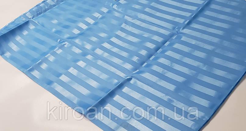 Однотонная голубая шторка для ванной/душа (полоса) 180х180 см, фото 2