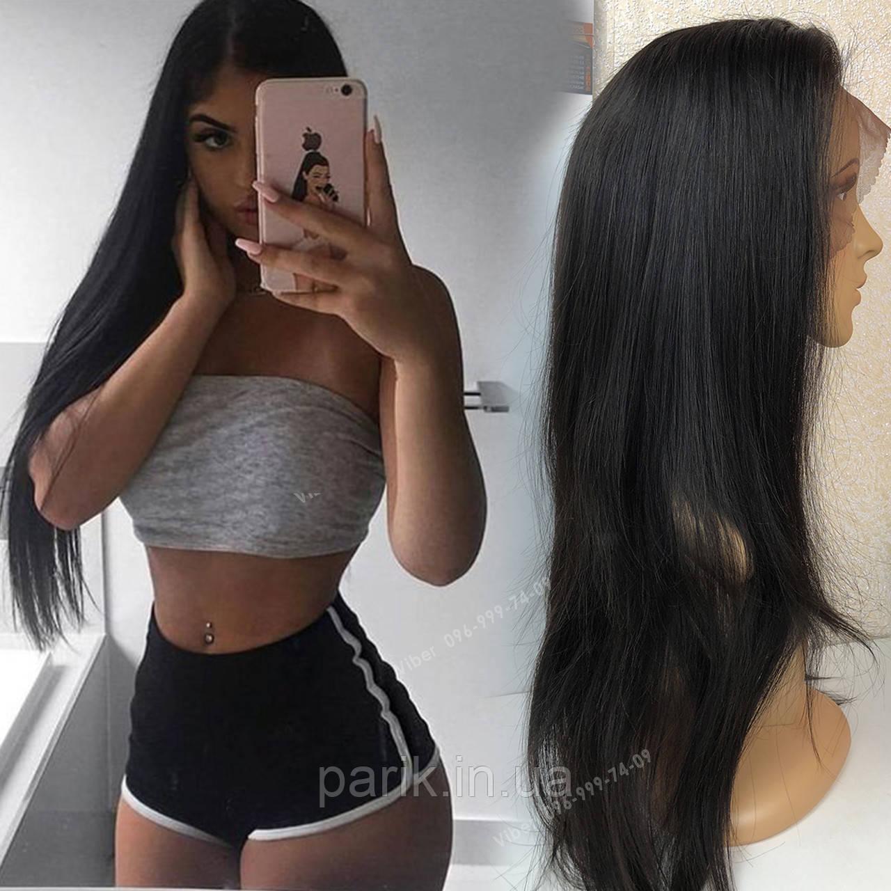 💎Натуральный парик 66 см., на сетке с имитацией кожи головы 💎