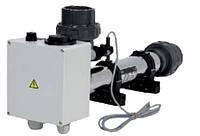 Проточный электронагреватель в корпусе из нержавейки 15кВт, 380В, Vagner