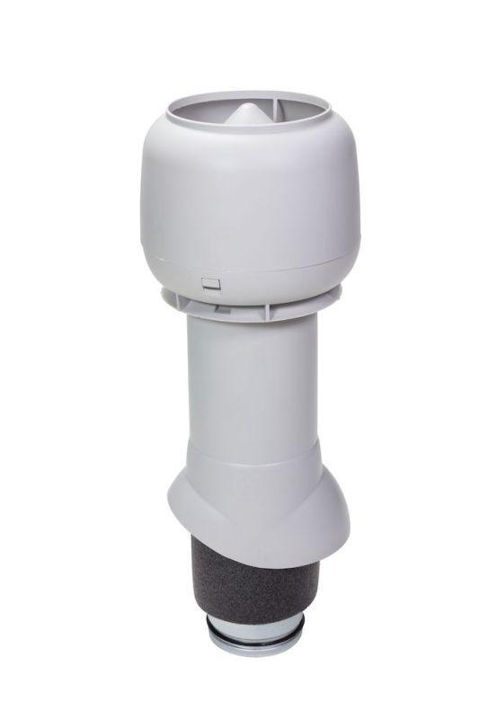 Вентиляционный выход VILPE® 125/ИЗ/500 изолированный. Цвет: Светло-серый