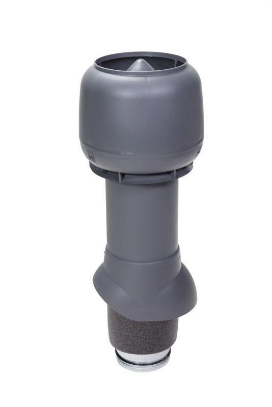 Вентиляционный выход VILPE® 125/ИЗ/500 изолированный. Цвет: Серый