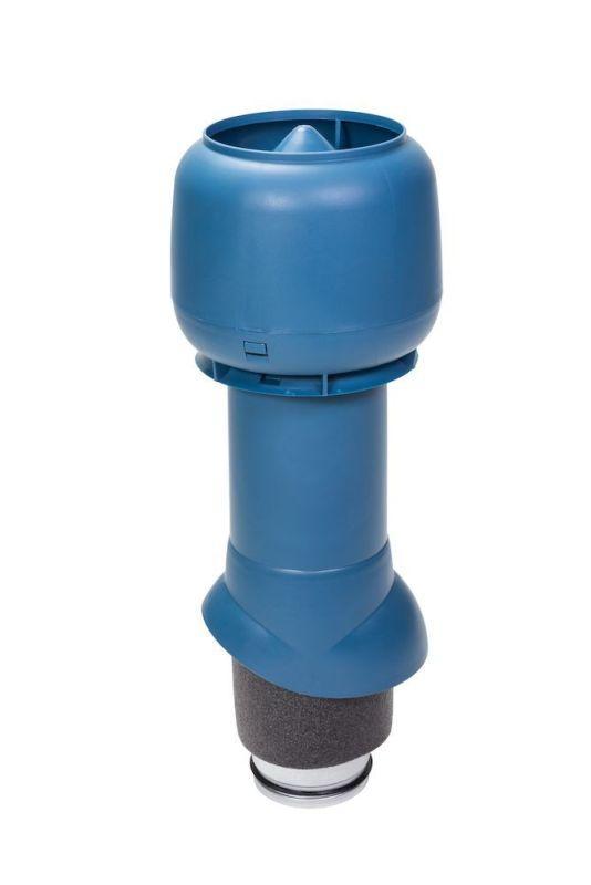 Вентиляционный выход VILPE® 125/ИЗ/500 изолированный. Цвет: Синий