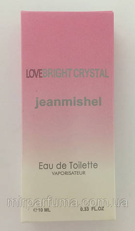 Женские мини духи jeanmishel Love Bright Crystal 10ml опт, фото 2