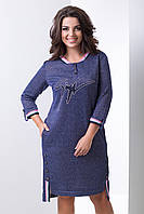 Молодёжное платье из двунитки с люрексом Барселона, фото 1