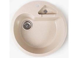 Кухонная мойка из керамогранита Valetti 510 с дополнительной чашей цвет Бежевая