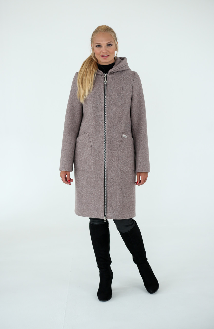 Демисезонное пальто-кардиган на молнии
