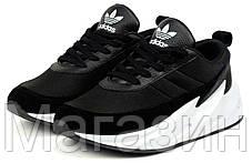 Мужские кроссовки Sharks Black / White в стиле Адидас Шарк Акулы черные с белым, фото 2