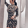 Платье с пайетками, ткань: сетка расшита пайетками, на подкладке.  Размер:С,М. Цвета разные (6060), фото 3