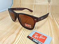 Солнцезащитные очки Ray Ban Wayfarer - коричневые (легкая тонировка)