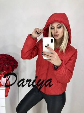 Женская куртка красного цвета, фото 2