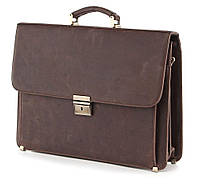 Портфель SHVIGEL 00754 из винтажной кожи Коричневый a1a5a402aa6c9