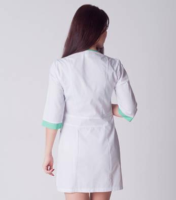 Медицинский халат женский с вставкой цвета яблоко 2188-1 (батист 42-60 р-ры ), фото 2