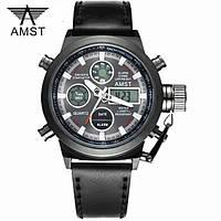 Наручные мужские армейские часы AMST Watch / спортивные часы / наручные часы Черный, в стиле AMST