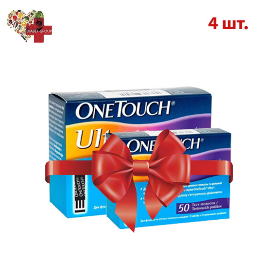 Тест полоски OneTouch Ultra (Ван Тач Ультра) №50 (4 упаковки)