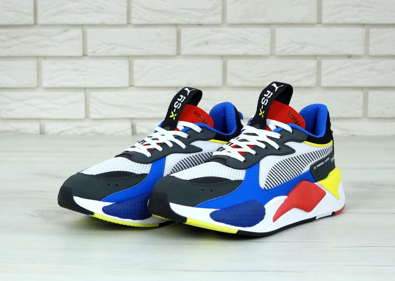 Мужские кроссовки Puma RS. Сине-черные Текстиль, кожа
