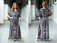 Летнее платье Гоа Maxi, индиго
