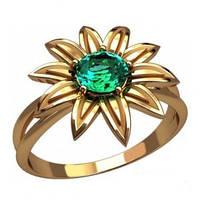 Золотое кольцо - Бирюзовый цветок
