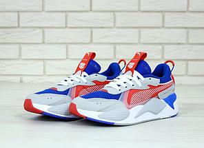 Мужские кроссовки Puma RS. Сине-серыеТекстиль, кожа