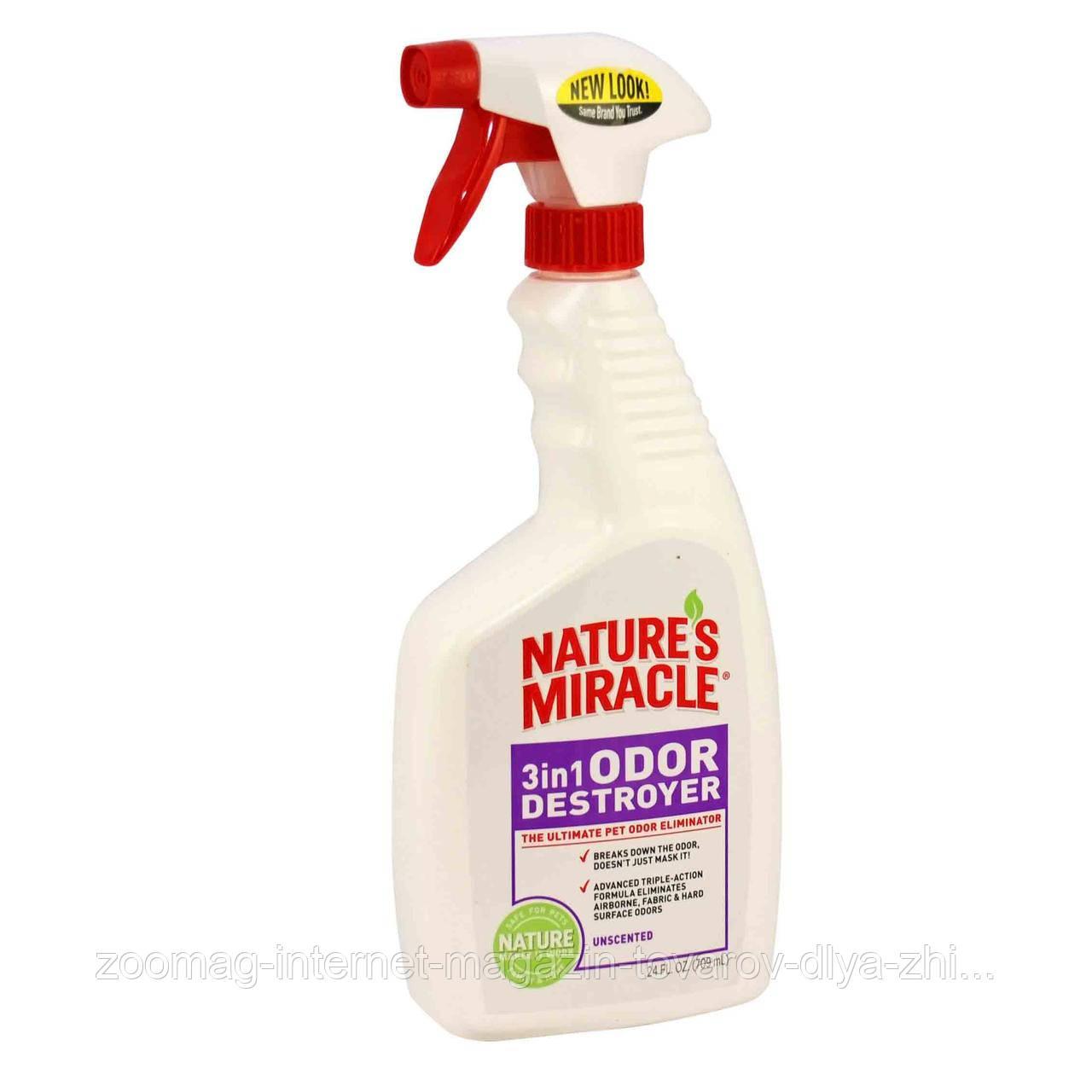 "Знищувач запахів тварин ""3in1 Odor Destroyer"" (спрей 710мл), 8in1 nature's Miracle®"