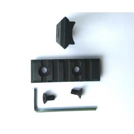 Планка Weaver 65mm стальная закругленная
