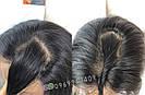 💎Женский длинный натуральный чёрный парик и с имтаций кожи 💎, фото 6