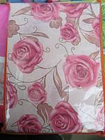 Постельное белье полуторное  Инесс розы на белом