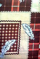 Постельное белье полуторное Инесс коричневые кубики