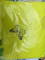 Постельное белье полуторное на желтом бабочки