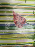Постельное белье полуторное - цветные полосы