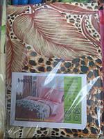 Постельное белье полуторное Инесс коричневые перья