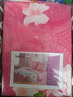 Полуторное постельное белье недорогое Инесс малиновое