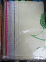 Постельное белье полуторное молочное  в полоску