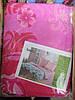Постельное полуторное белье розового цвета