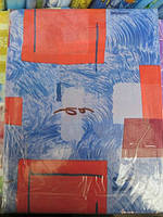 Постельное белье полуторное недорогое с красными  кубиками