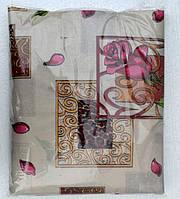 Постельное белье полуторное на бежевом розовые розы