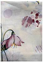 Постельное полуторное белье с цветочками