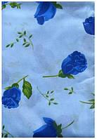 Недорогое белье полуторное Инесс с синими розами