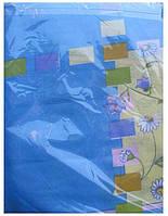 Постельное белье полуторное голубое