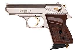 Сигнальний пістолет Ekol Lady (9.0 мм), сатин з позолотою