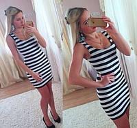 Платье в полоску 388ос