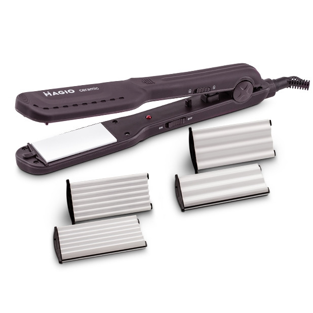 Щипцы для волос MAGIO MG-722 с насадками для гофре