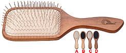 Gorgol. Масажна гребінець, велика прямокутна, 11 рядів прямих залізних зубців.