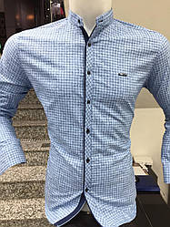 АКЦИЯ!!!Рубашка длинный рукав Paul Jack стойка в клетку