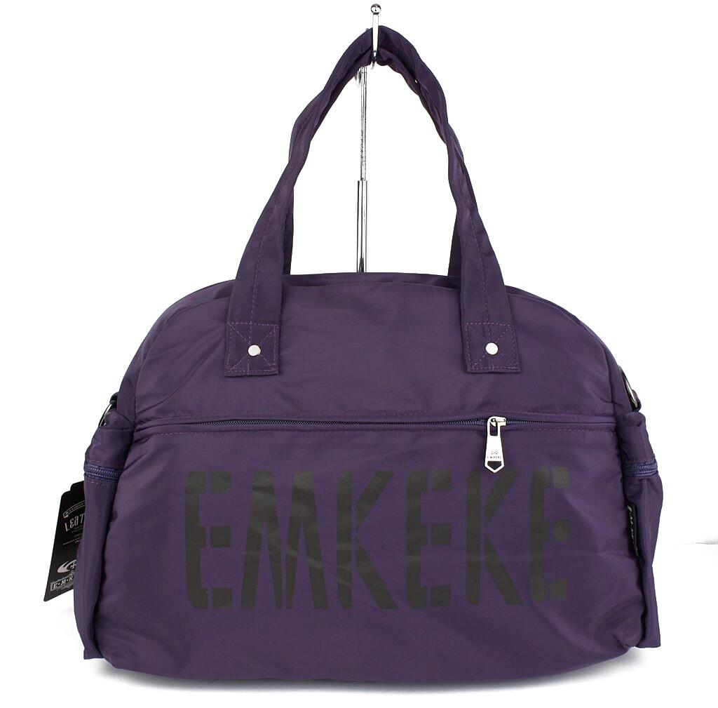 Сумка дорожная, спортивная, пляжная текстильная фиолетовая Emkeke 108