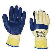 Перчатки для строителей, нейлоновые, латексный двойной облив DOLONI, уп. — 12 пар